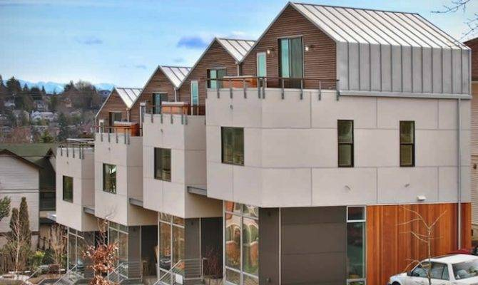 Denny Rowhouses Modern Green Seattle Architects David