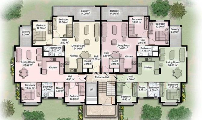 Design Apartment Plans Building Floor