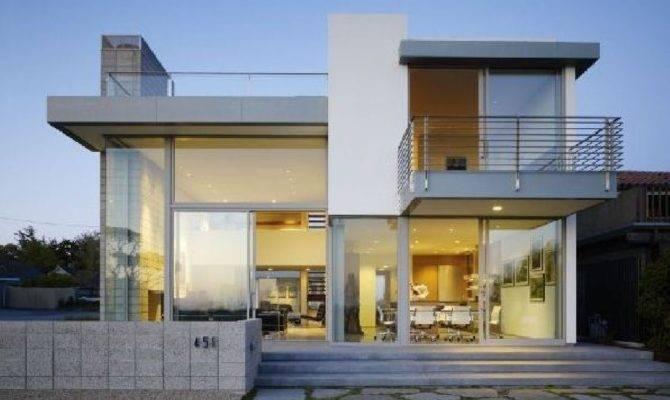 Design Ideas Minimalist House Plans Glass Wall White
