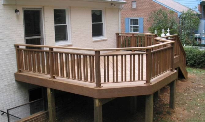 Design Ideas Wood Decks Railing Post Deck