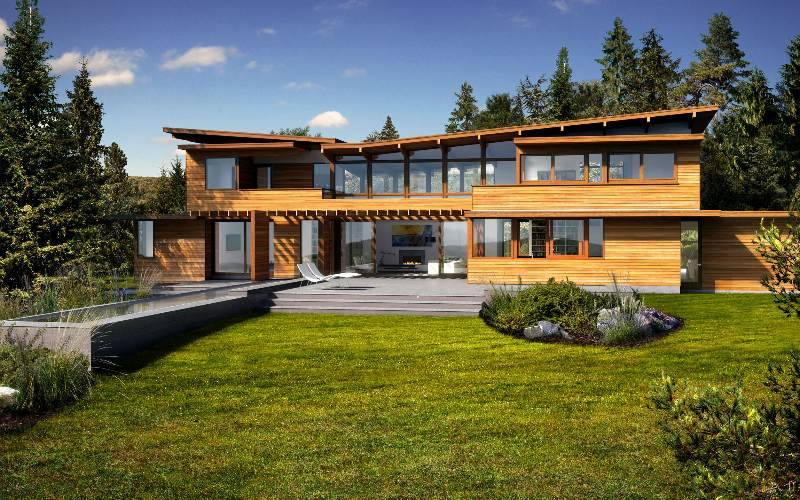 Design Lindal Cedar Homes Modern Eco Home Green