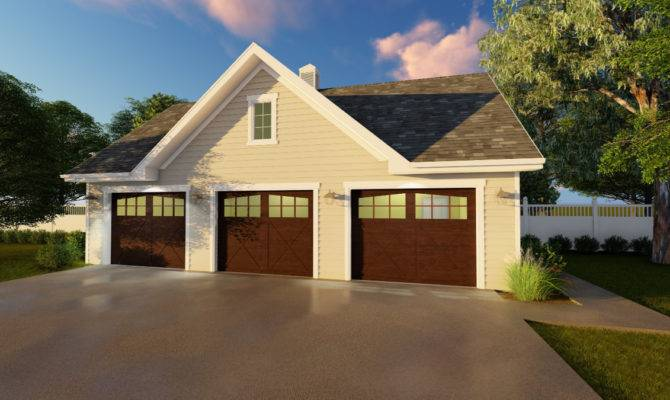 Detached Car Garage Plan Cad Available Pdf