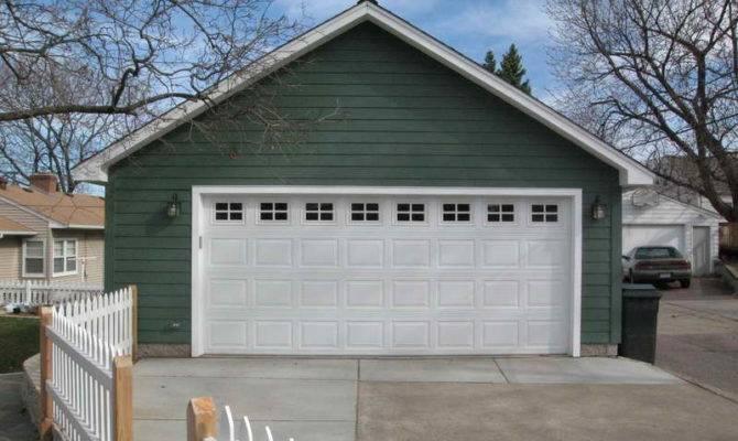 Detached Car Garage Plans White Door