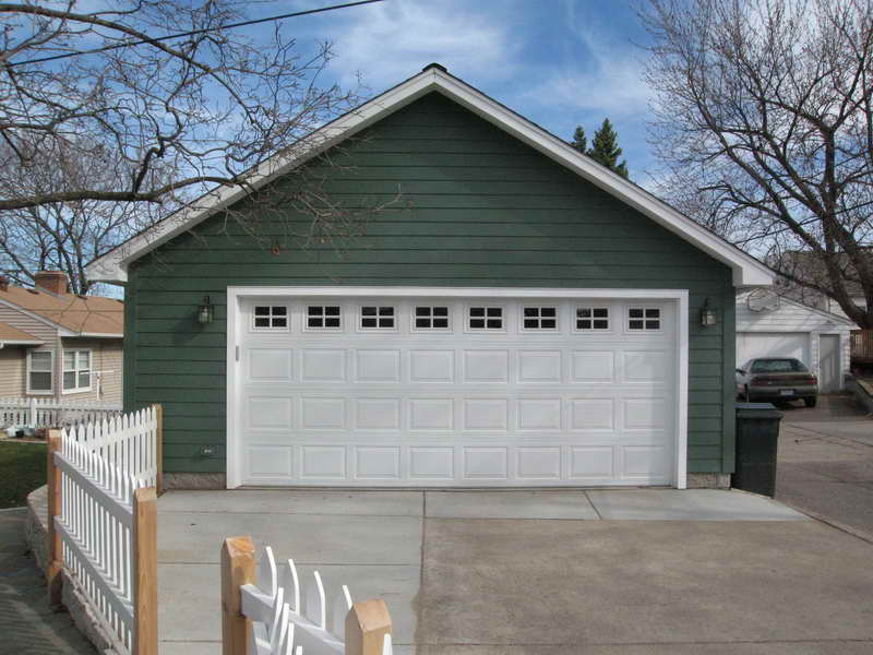 Detached Car Garage Plans White Door