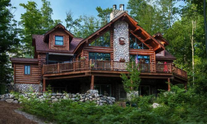 Dickinson Homes Hybrid Log Chalet Style Home Mancelona