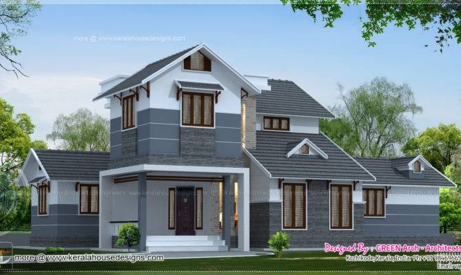 Different House Elevation Exterior Designs Kerala