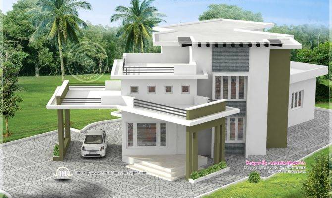 Different House Exteriors Concetto Design Kerala