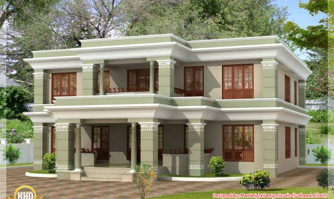 Different Style India House Elevations Kerala Home Design