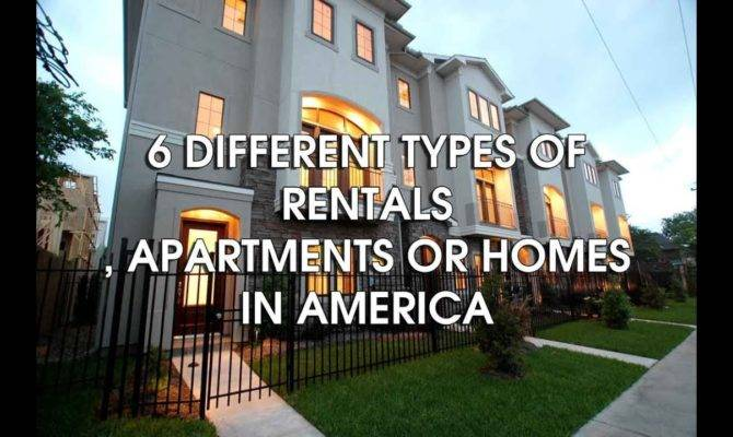 Different Types Housing Rentals America Youtube