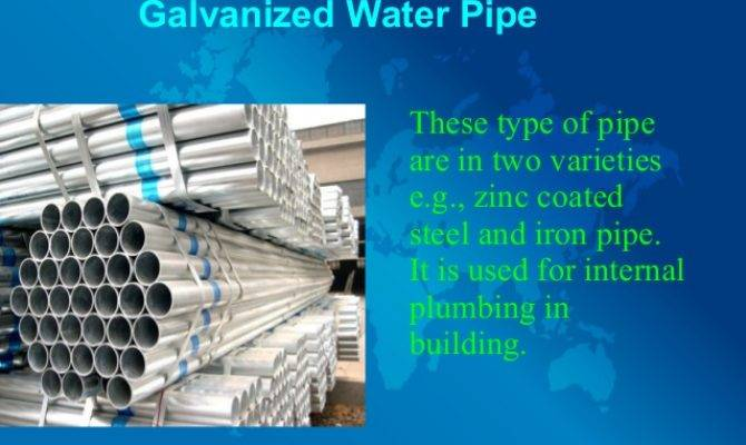 Different Types Water Pipes Their Uses