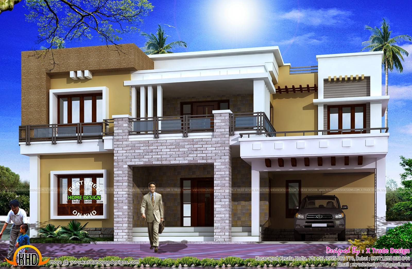 Different Views Modern Home Kerala