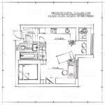 Dimensioned Studio Apartment Blueprints