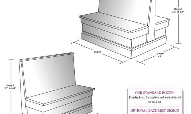 Dining Room Booth Plans Shapes Areas