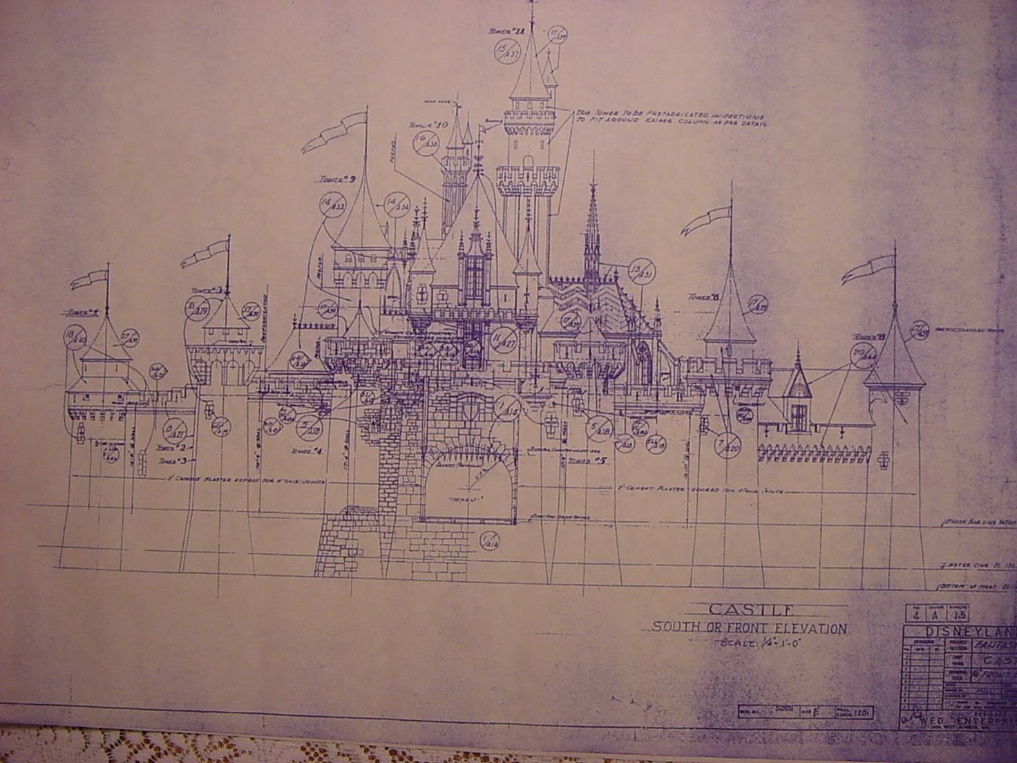 Disneyland Fantasyland Blueprints
