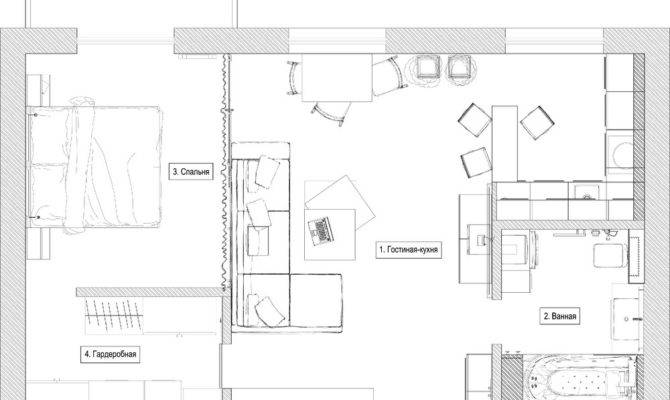 Distinctly Themed Apartments Under Square Feet Floor Plans