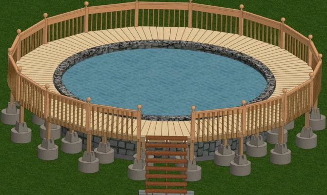 Diy Make Foot Above Ground Pool Deck Designs Plans Built Adirondack