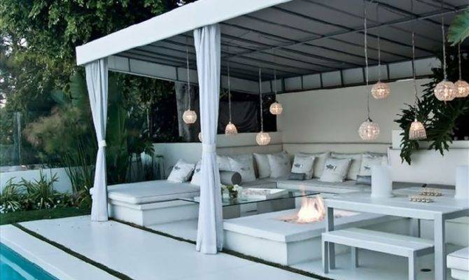 Diy Outdoor Cabana Beverly Hills Swimming Pool