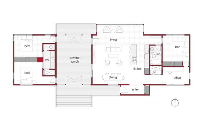 Dogtrot Floor Plans