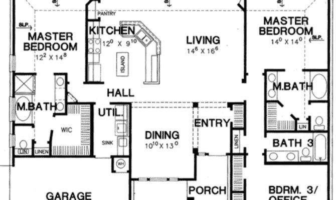 Double Master Bedroom House Plan Architectural