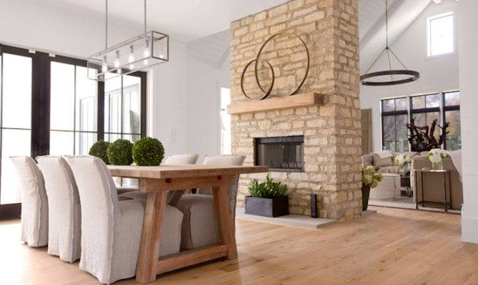 Double Sided Fireplace Cottage Dining Room Enjoy Company
