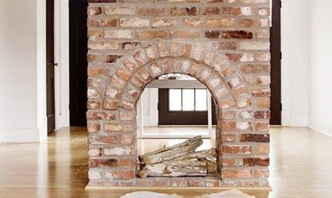 Double Sided Fireplace Eclectic Living Room