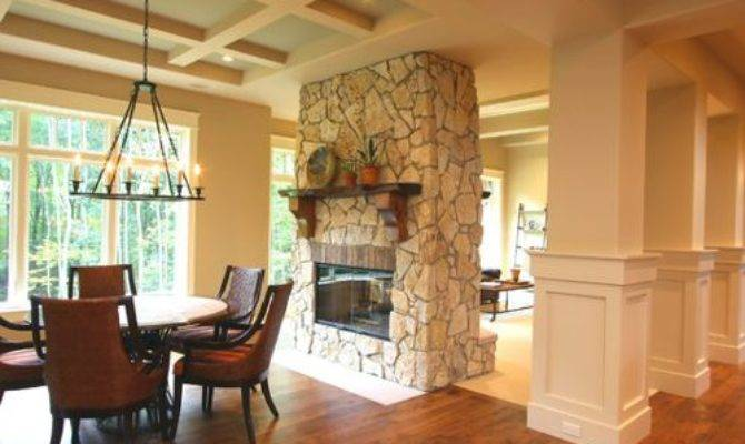 Double Sided Fireplace Home Design Ideas