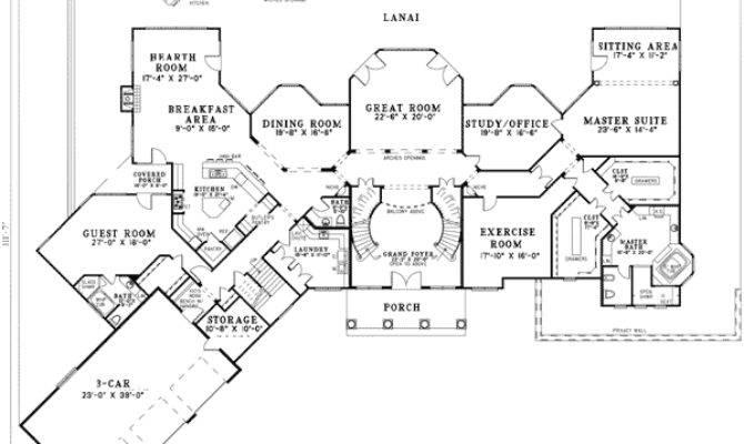Double Staircase Floor Plans Pixshark
