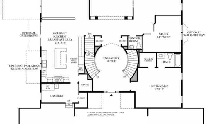 Double Staircase Foyer House Plans Trgn Cbf