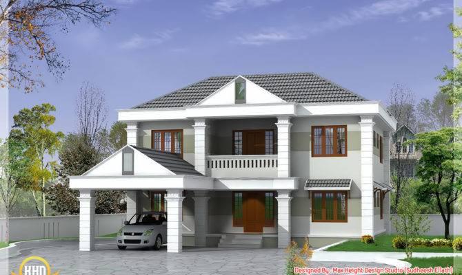 Double Storey Home Design Kerala Floor