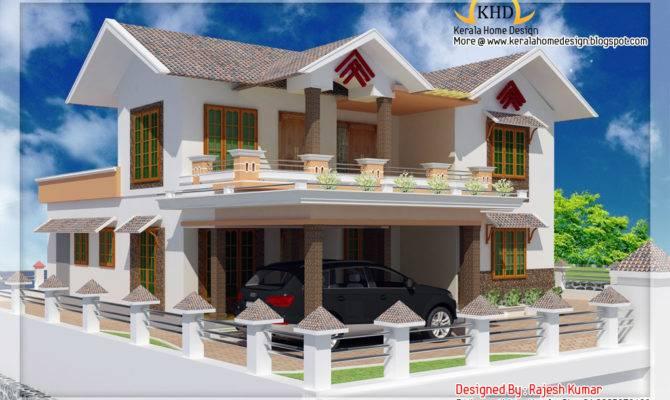 Double Story Home Design Kerala Floor Plans