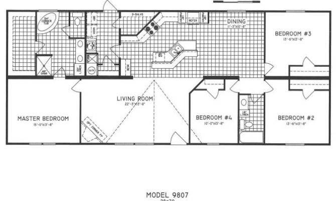 Double Wide Open Floor Plans Bedroom Mobile Home