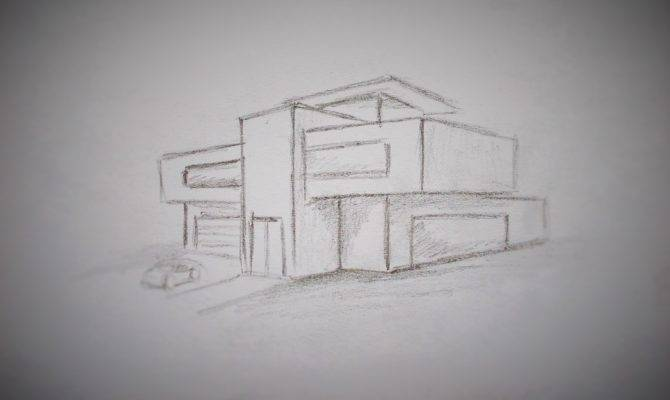 Draw Modern House Youtube