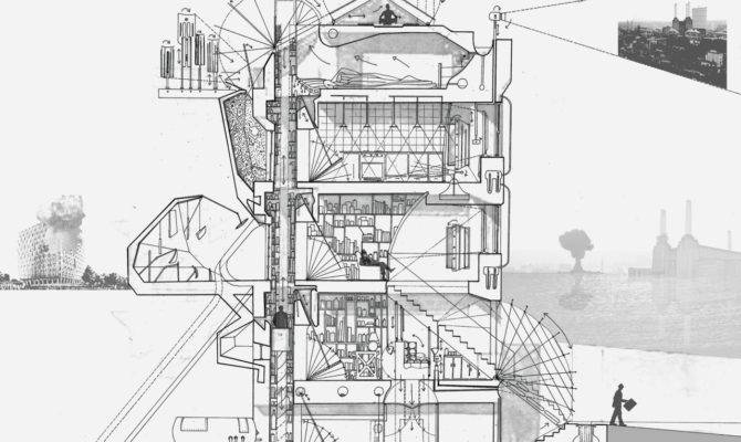 Drawing Architecture Paranoia House Arthur Kay Pen Ink