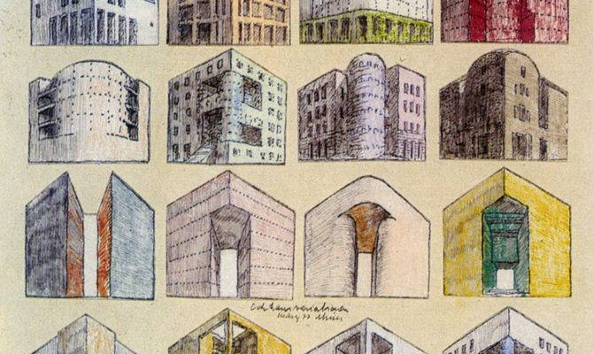 Drawing Architecture Rob Krier Sketches Them