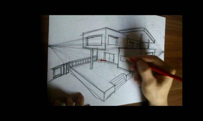 Drawing Modern House Youtube
