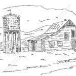 Drawn Barn Old Farmhouse Pencil Color
