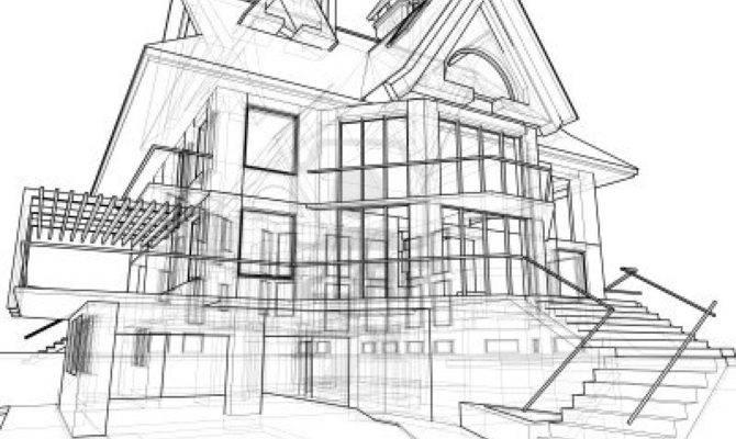 Drawn Hosue Architectural Drawing Pencil Color