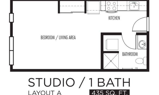 Drawn Kitchen Studio Apartment Pencil Color