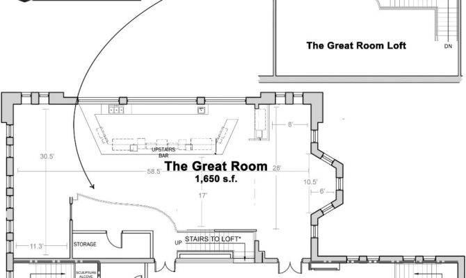 Dream Great Room Floor Plan Architecture Plans