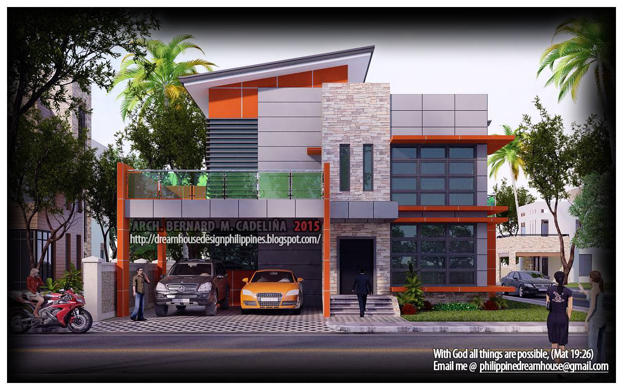 Dream House Design Philippines Four Bedroom Two Storey