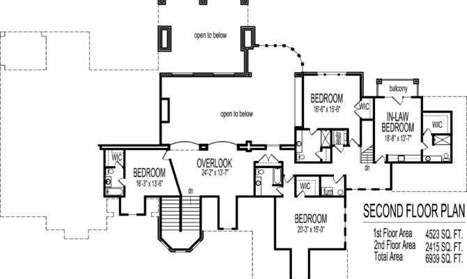 Dream House Floor Plans Blueprints Story Bedroom Large