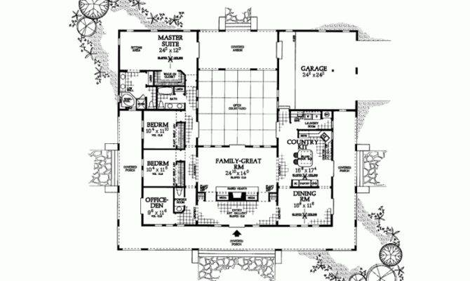 Dream Spanish Hacienda Style House Plans