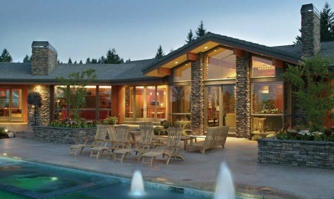 Dreams House Stones Home Contemporary Plans