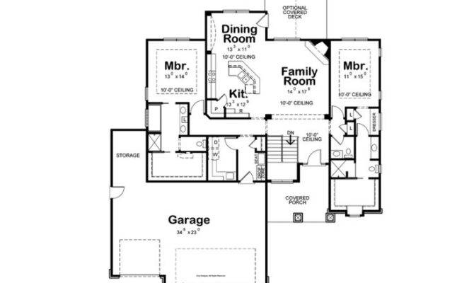 Dual Master Bedrooms House Plans Pinterest