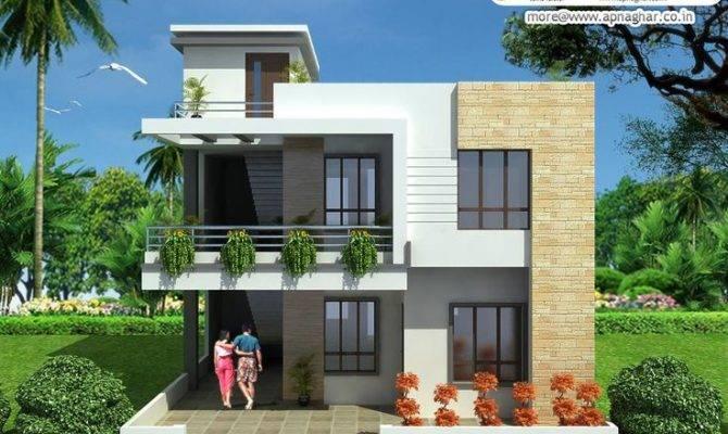 Duplex Floor House Design Link Apnaghar Home Plans