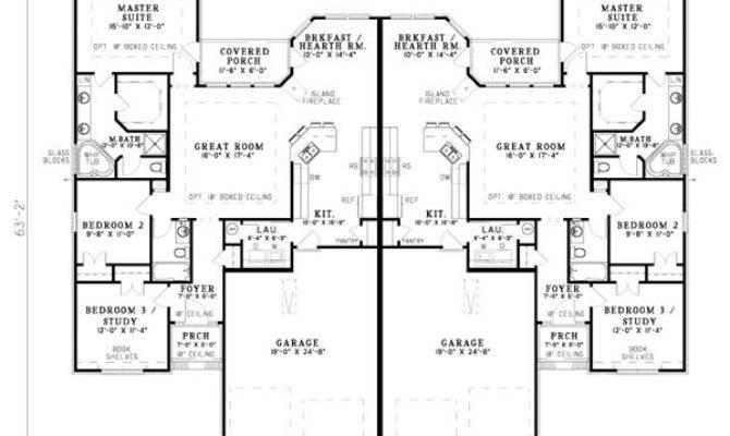 Duplex Floor Plans Garage Homes