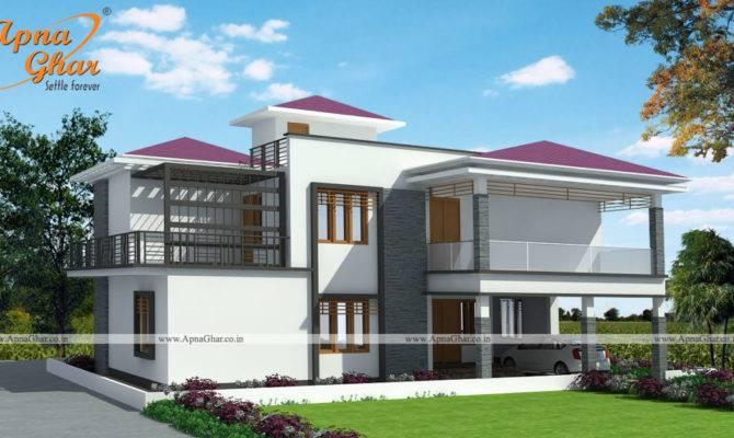 Duplex House Design Apnaghar Homify