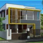 Duplex House Elevation Feet Each Kerala Home Design