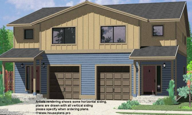 Duplex House Plans Corner Lot Narrow