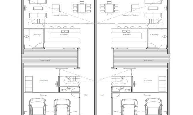 Duplex House Plans Narrow Lot Home Deco